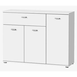 DIXI Buffet bas contemporain laqué blanc - L 90 cm