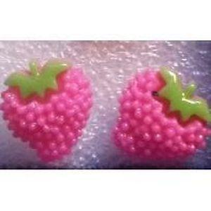 Boucle d'oreille boucles d oreilles fraise fillette