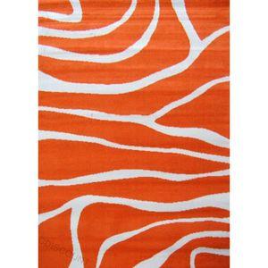 Paradise tapis de salon orange beige 120x160 cm achat vente tapis cdisc - Tapis gris et orange ...