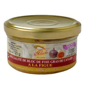 FOIE GRAS Bloc de Foie Gras de Canard à la Figue 120g x1