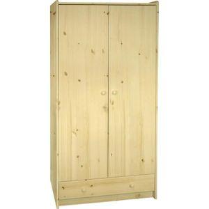 armoire bois naturel achat vente armoire bois naturel pas cher cdiscount. Black Bedroom Furniture Sets. Home Design Ideas
