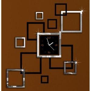 Horloge murale sticker achat vente horloge murale for Horloge murale geante pas cher