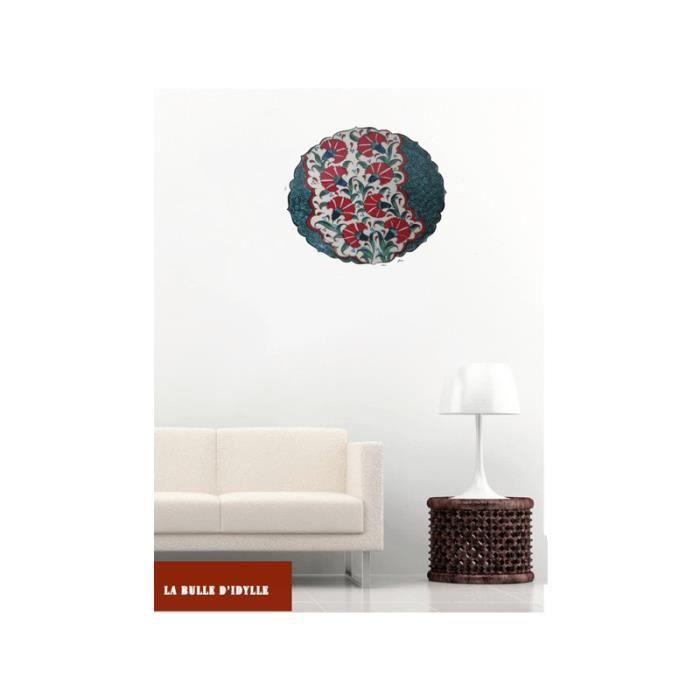 assiette ceramique deco clou de girofle achat vente objet d coration murale cdiscount. Black Bedroom Furniture Sets. Home Design Ideas