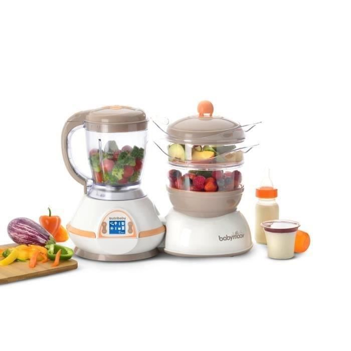 ROBOT BÉBÉ BABYMOOV Robot Culinaire Nutribaby Abricot/Taupe