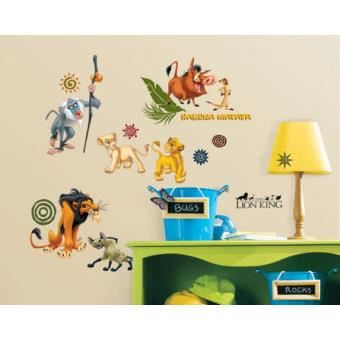stickers muraux adhesif mural le roi lion disney achat. Black Bedroom Furniture Sets. Home Design Ideas