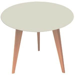 Table basse ronde gris clair design lalinde sen achat for Table ronde chene clair
