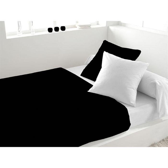 parure de lit 4 pi ces soleil d 39 ocre noir blanc achat vente parure de lit cdiscount. Black Bedroom Furniture Sets. Home Design Ideas