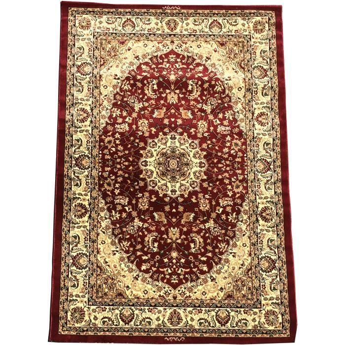 inspiration oriental lalem rouge 120x170 par unamourdetapis tapis moderne 120 x 170 cm rouge. Black Bedroom Furniture Sets. Home Design Ideas
