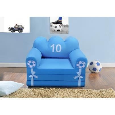Chauffeuse tissu pour enfant footy bleu achat vente - Chauffeuse pour enfant ...