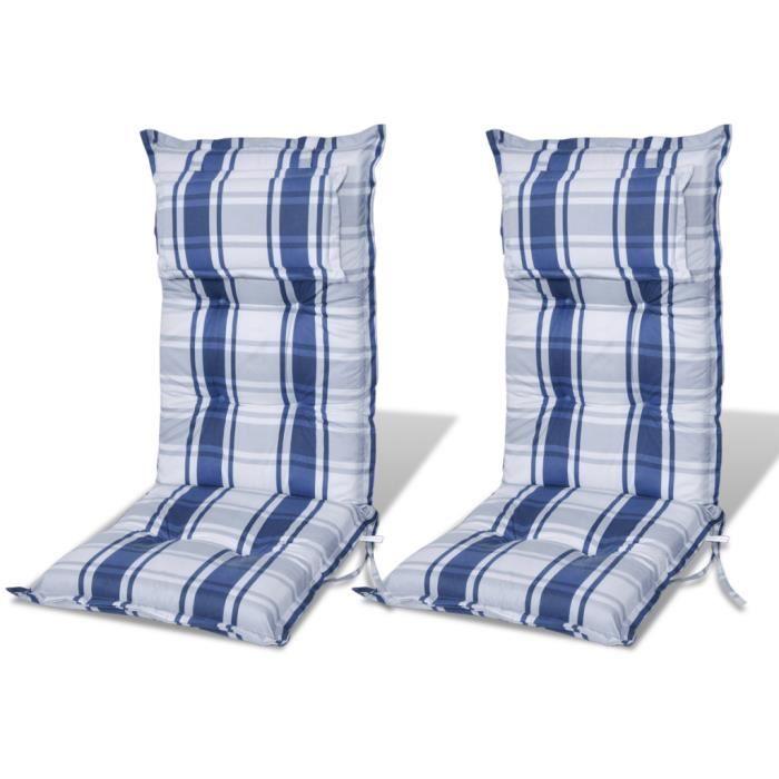 coussin pour chaise de jardin bleu achat vente coussin. Black Bedroom Furniture Sets. Home Design Ideas