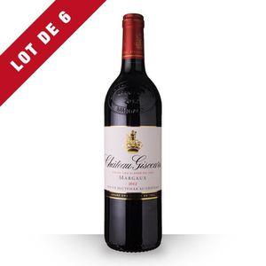 VIN ROUGE 6X Château Giscours 2012 Rouge 75cl AOC Margaux -