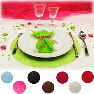 Set de table intisse achat vente set de table intisse pas cher cdiscount - Set de table rond blanc ...