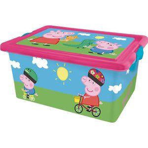 coffre de rangement rose peppa pig. Black Bedroom Furniture Sets. Home Design Ideas
