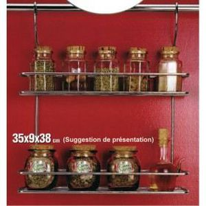 Etag re pices 2 niveaux chrom achat vente etag re murale rangemen - Rangement mural cuisine ...