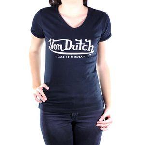 T-SHIRT Tee-shirt femme VON DUTCH BASIC 02 noir Noir