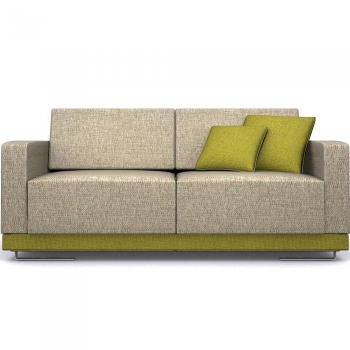 Canap 2 places en tissu design land couleur ve achat for Canape 2 couleurs