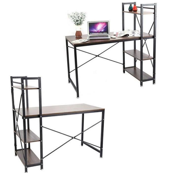 bureau informatique table d ordinateur simplicit pc avec etag re de biblioth que achat. Black Bedroom Furniture Sets. Home Design Ideas