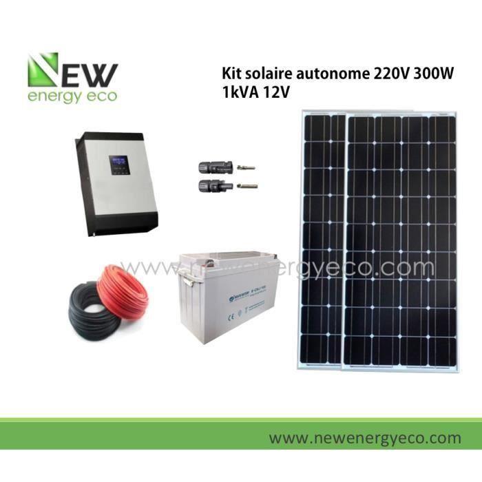 kit solaire autonome 220v 300w 1kva 12v achat vente. Black Bedroom Furniture Sets. Home Design Ideas