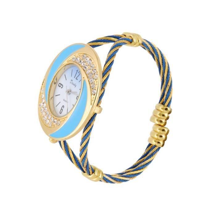Montre bracelet analogique avec des d corations achat vente montre cdiscount for Montre decoration