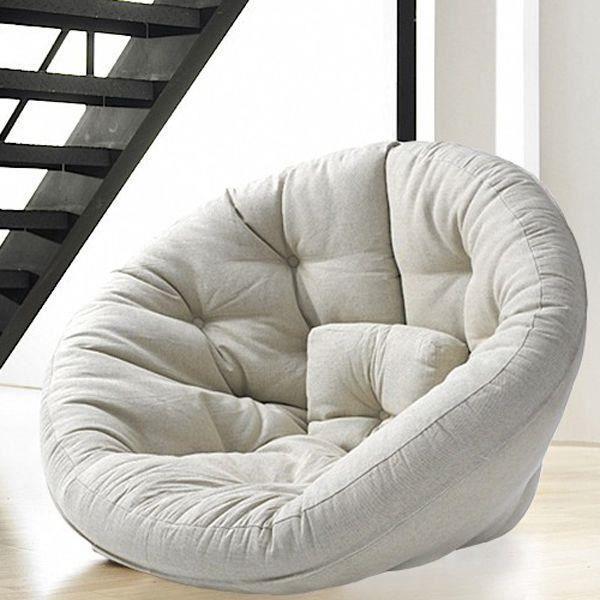 little nest le fauteuil cocon pour les enfants achat vente fauteuil coton cdiscount. Black Bedroom Furniture Sets. Home Design Ideas