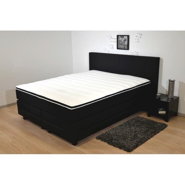 boxspring chlo 160x200 achat vente ensemble literie cdiscount. Black Bedroom Furniture Sets. Home Design Ideas