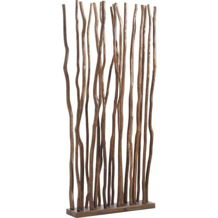 paravent avec socle en bois 18 tiges de bois achat vente paravent bois cdiscount. Black Bedroom Furniture Sets. Home Design Ideas