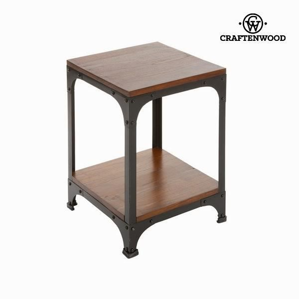Table d 39 appoint en bois et m tal collection franklin by for Table d appoint metal