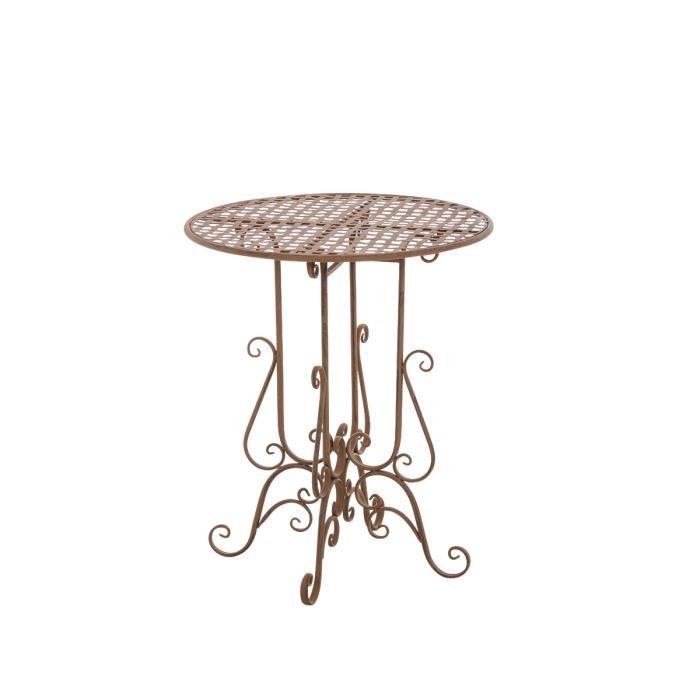 Clp table de jardin ronde en fer forg matin faite la for Clp annex 6 table 3 1