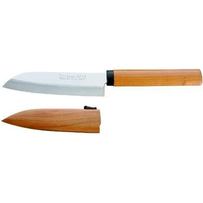 couteau cuisine japonais mini santoku stopper 200 achat vente couteau de cuisine mini. Black Bedroom Furniture Sets. Home Design Ideas