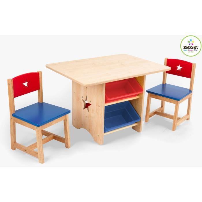 ensemble table et 2 chaises kidkraft etoiles achat vente table et chaise 0706943269121. Black Bedroom Furniture Sets. Home Design Ideas