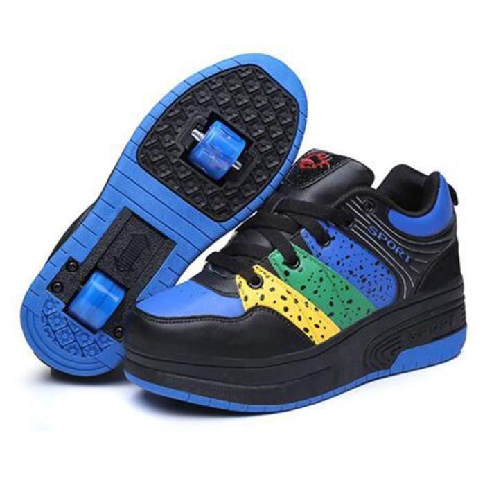 heelys enfants chaussures roulettes gar ons filles double roue baskets bleu bleu achat. Black Bedroom Furniture Sets. Home Design Ideas