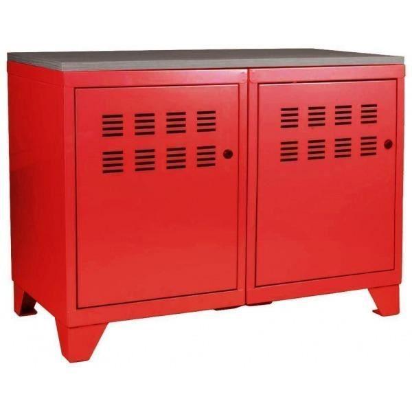 Meuble de rangement 2 portes achat vente petit meuble - Meuble rangement cdiscount ...
