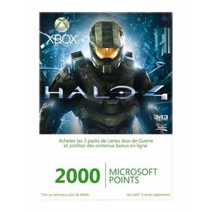 CARTE MULTIMEDIA XBOX LIVE 2000 MICROSOFT POINTS HALO 4