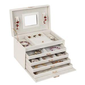 BOITE A BIJOUX Boîte à bijoux Blanc boîte de rangement pour bijou