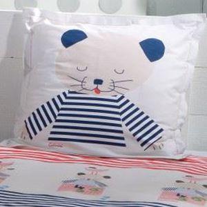 taie d 39 oreiller enfant chats de la marine cat achat vente taie d 39 oreiller cdiscount. Black Bedroom Furniture Sets. Home Design Ideas