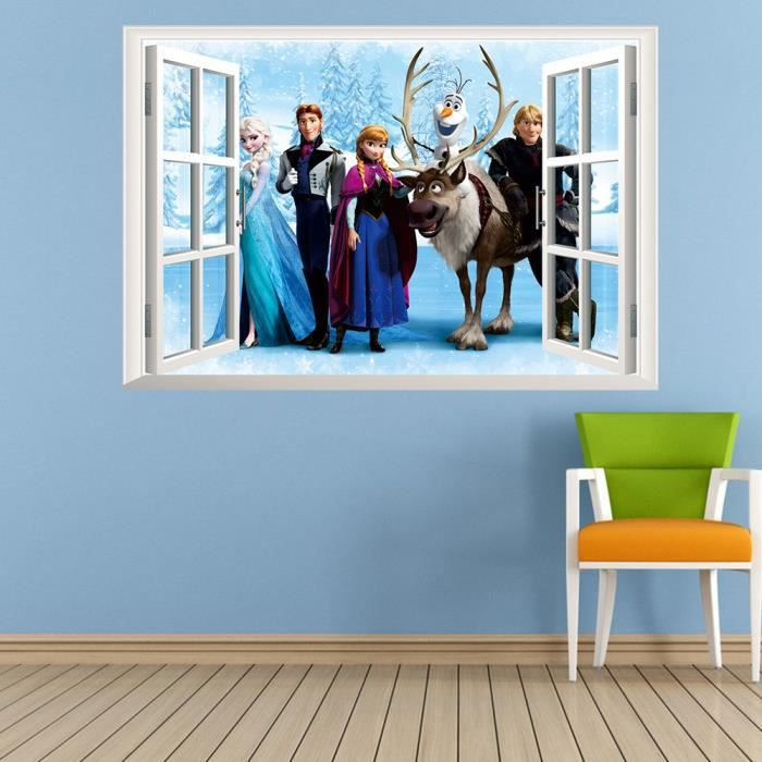 stickers muraux reine des neiges la fen tre achat. Black Bedroom Furniture Sets. Home Design Ideas