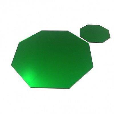 4 verts napperons miroir octogone et sous verres achat for 2 sous de table
