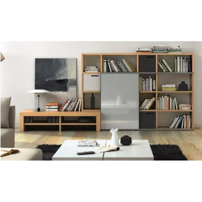 bibliotheque et meuble tv design pombal achat vente. Black Bedroom Furniture Sets. Home Design Ideas