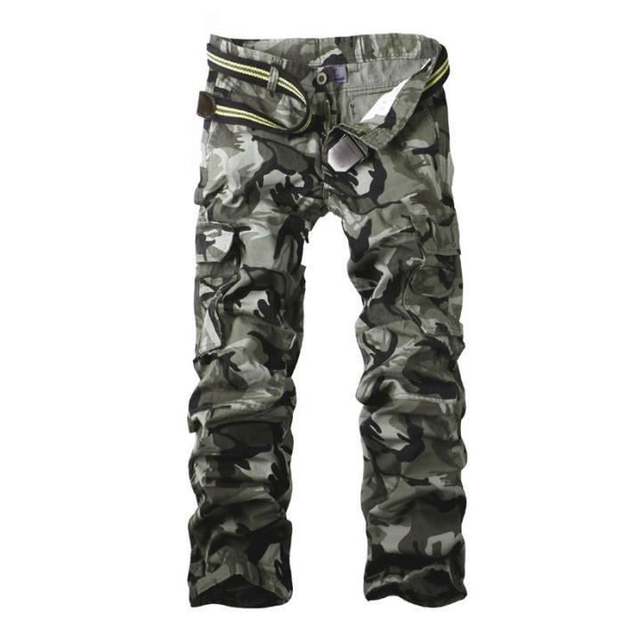 multi poche cargo militaire pantalons camouflag gris achat vente pantalon cdiscount. Black Bedroom Furniture Sets. Home Design Ideas