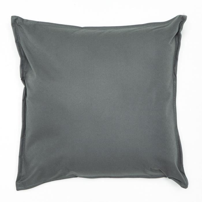Coussin impermeable 39 x 39 cm gris achat vente - Coussin exterieur impermeable ...