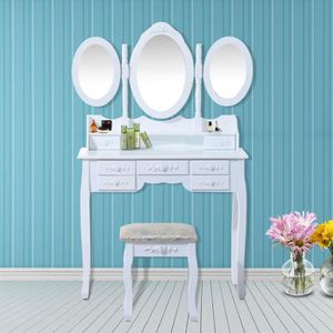 COIFFEUSE Coiffeuse table/commode de maquillage 3 miroirs do