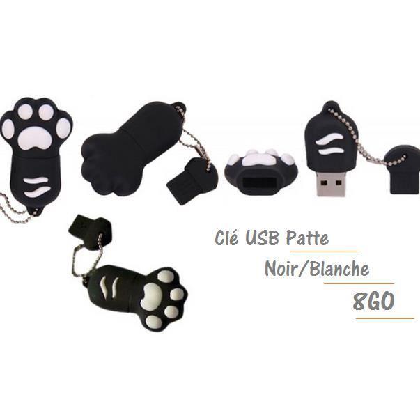 cl usb patte noire capacit 8go achat vente cl usb. Black Bedroom Furniture Sets. Home Design Ideas