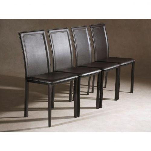 4 chaises de salle a manger chocolat plazza achat - Achat de chaises de salle a manger ...