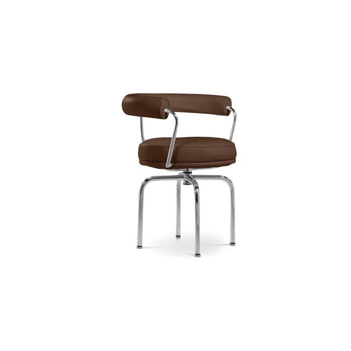 Chaise pivotante lc7 inspir e le corbusier si achat for Chaise du corbusier