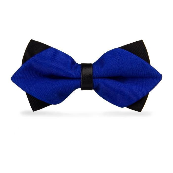 noeud papillon double bleu roi bleu achat vente cravate n ud papillon 3700903404123. Black Bedroom Furniture Sets. Home Design Ideas