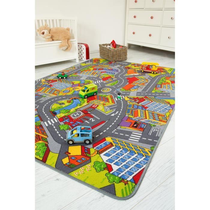andiamo tapis enfants route multicouleur 140x200 cm. Black Bedroom Furniture Sets. Home Design Ideas