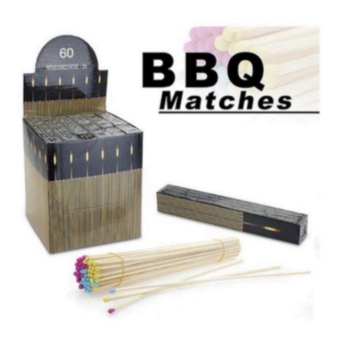 60 allumettes a barbecue geante gaziniere 27 cm achat. Black Bedroom Furniture Sets. Home Design Ideas