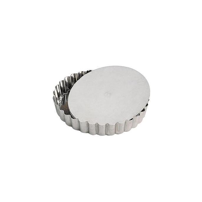 moule tartelette inox cannel 12 cm achat vente. Black Bedroom Furniture Sets. Home Design Ideas