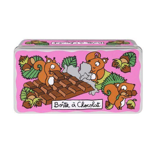 Boite chocolat ecureuil derri re la porte achat vente boites de conservat - Vente de chocolat porte a porte ...