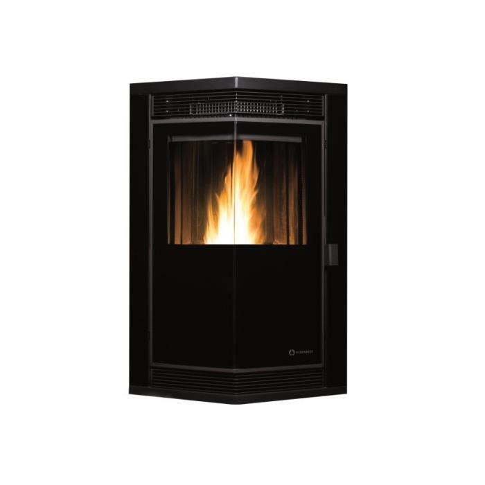 ecoforest po le bois 10kw acier noir 20812 achat. Black Bedroom Furniture Sets. Home Design Ideas